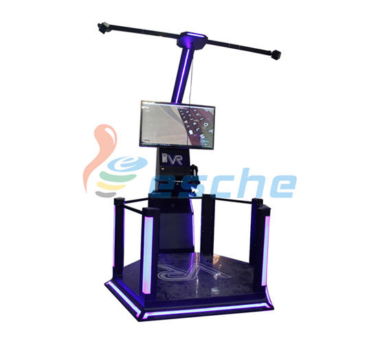 Leesche virtual fighting game machine with special effect and vr glasses on the street