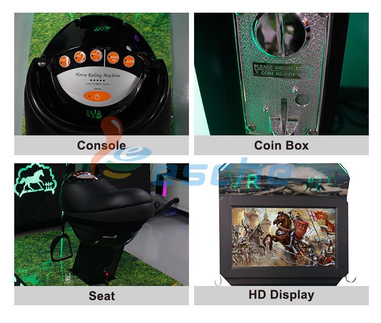 Leesche machine full motion racing simulator in the park