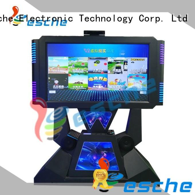 operated dance dance revolution arcade game for sale with special effect and vr glasses in Shopping mall Leesche
