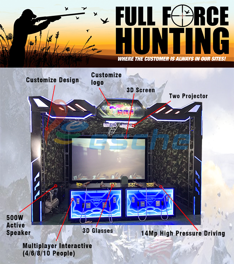 Leesche durable real life hunting games support multi-person connected together to play in Shopping mall