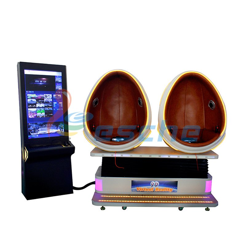 Leesche Interactive 360 degree 2 seat 9d vr egg chair 9D VR Egg Chair image33