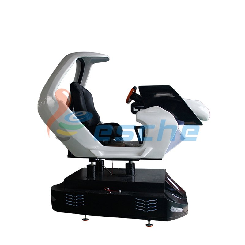 Leesche New arrival dynamic platform 9d vr racing car driving simulator VR Racing/Riding image6