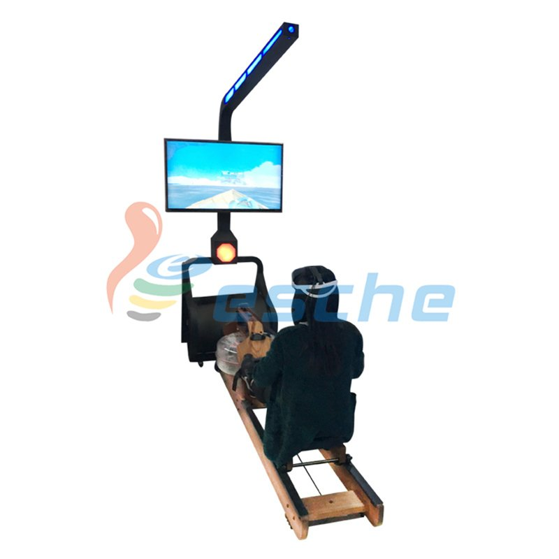 Leesche Gym fitness surfing water rowing simulator dynamic 9D vr rowing VR Slide image31