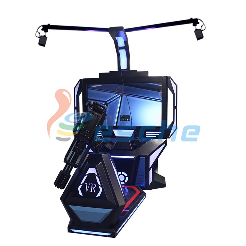 Leesche VR Shooting Game Machine HTC VIVE 9D VR Gatling Simulator VR Gun/Fighting image26