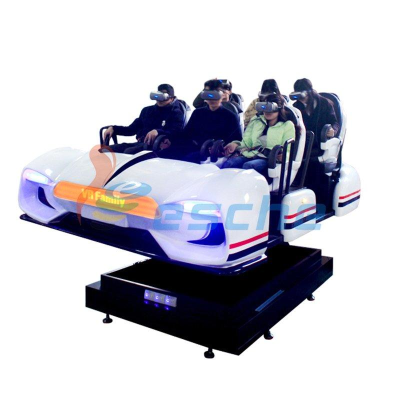 Newest 6 seats 360 degree 9d vr simulator 12d cinema