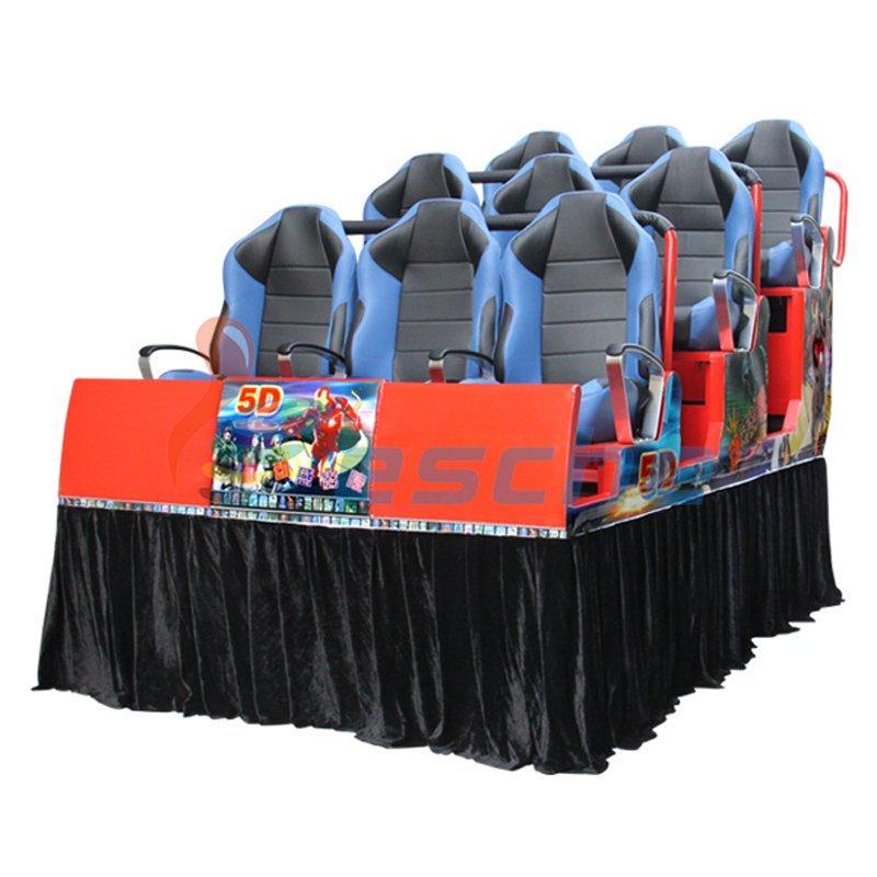 Leesche Special Motion Platform Truck Mobile 9 Seats 5D Cinema