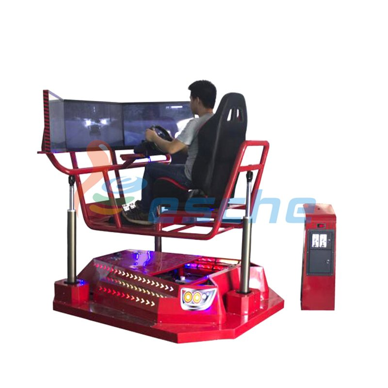 Leesche Coin-operated 360 rotating car driving simulator with 3 screens VR Racing/Riding image20
