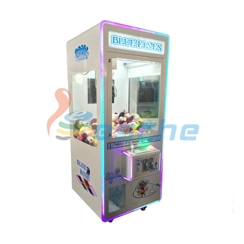 Leesche Plush crane toy vending machine coin pusher toy claw machine Prize Claw Machine image6