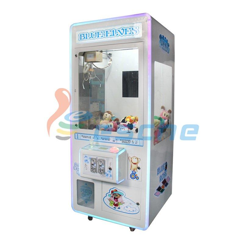 Plush crane toy vending machine coin pusher toy claw machine