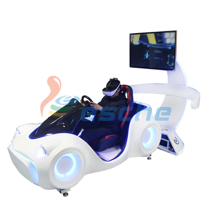 Leesche New arrival dynamic platform 9d vr racing car driving simulator VR Racing/Riding image33