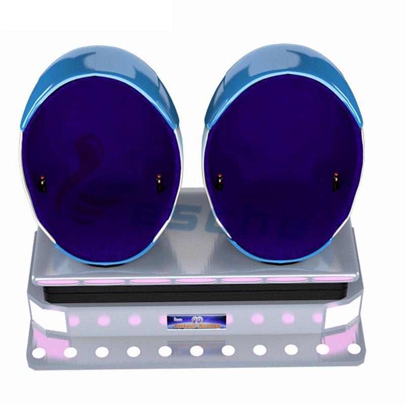 Leesche popular 9d vr movies 2 seats egg virtual reality equipment 9D VR Egg Chair image13