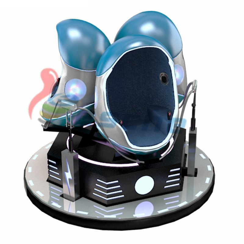 Leesche 100% Earning Money 3 Seats 9d egg vr Cinema 9D VR Egg Chair image12