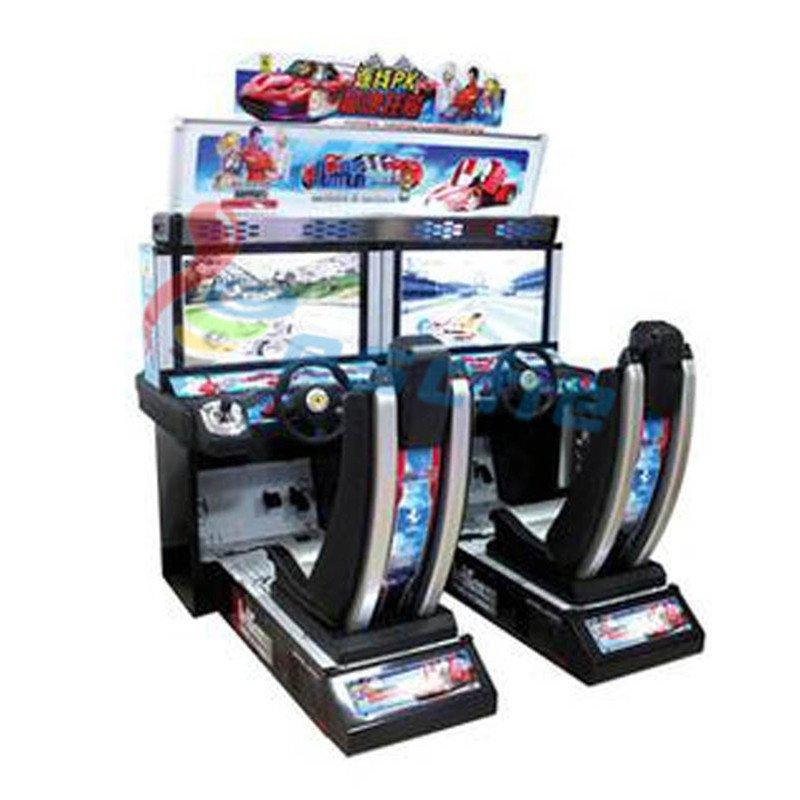 Luxury arcade car driving simulation game machine