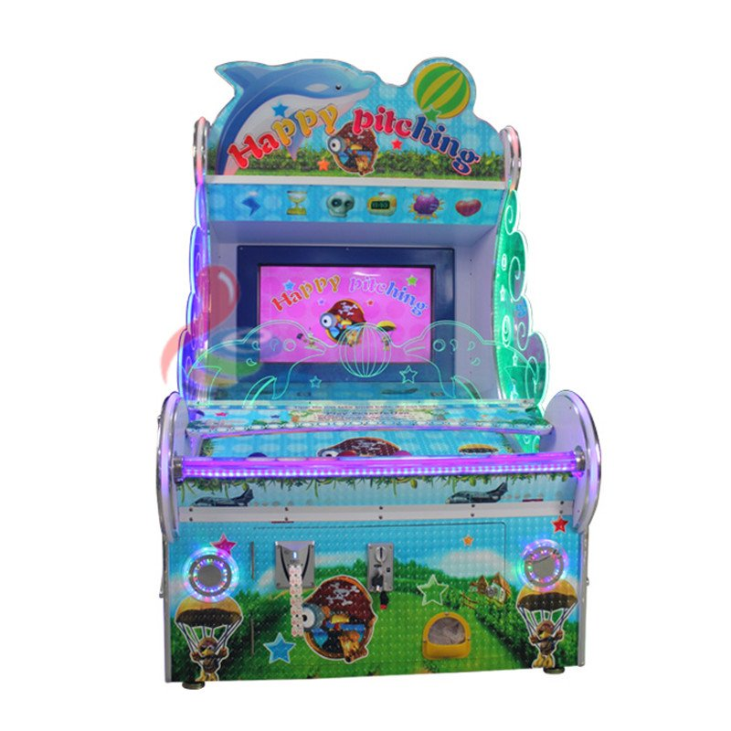 Leesche Happy pitching 32 Inch screen coin operated ball shooting game machine Arcade Game Machine image12