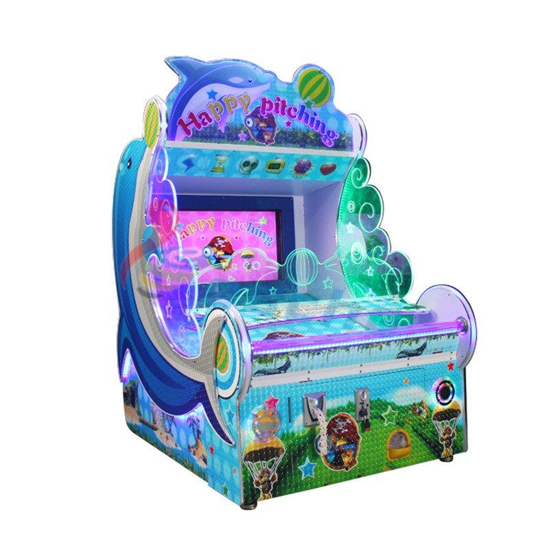 Happy pitching 32 Inch screen coin operated ball shooting game machine