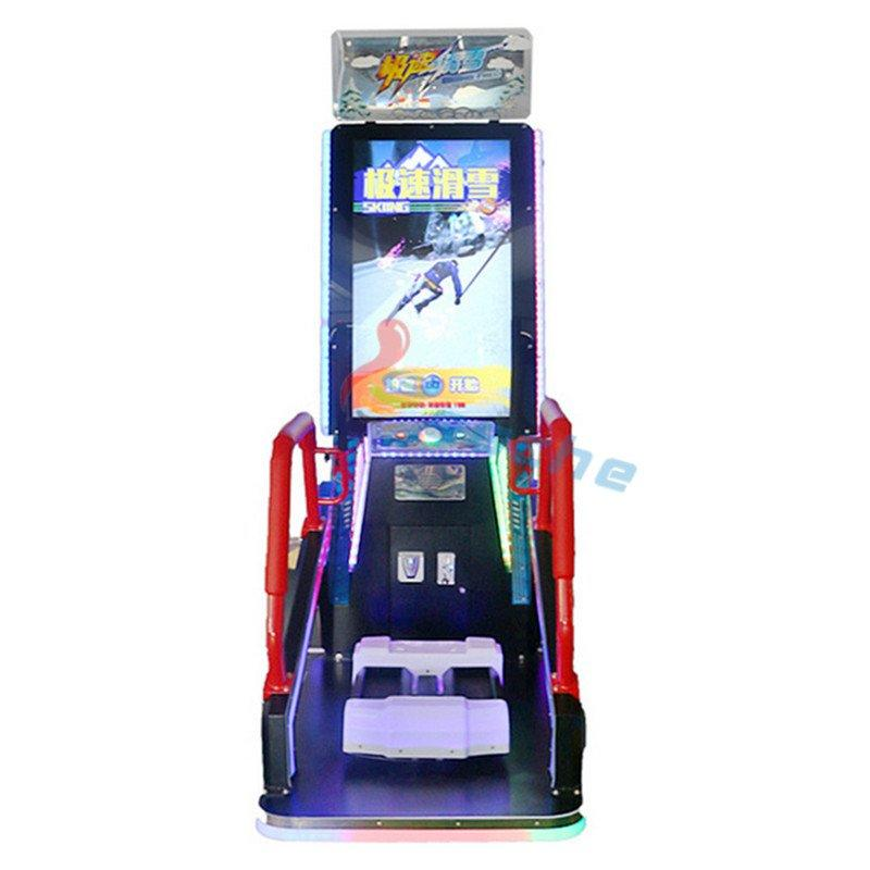 Leesche coin operated redemption machine skiing video game machine