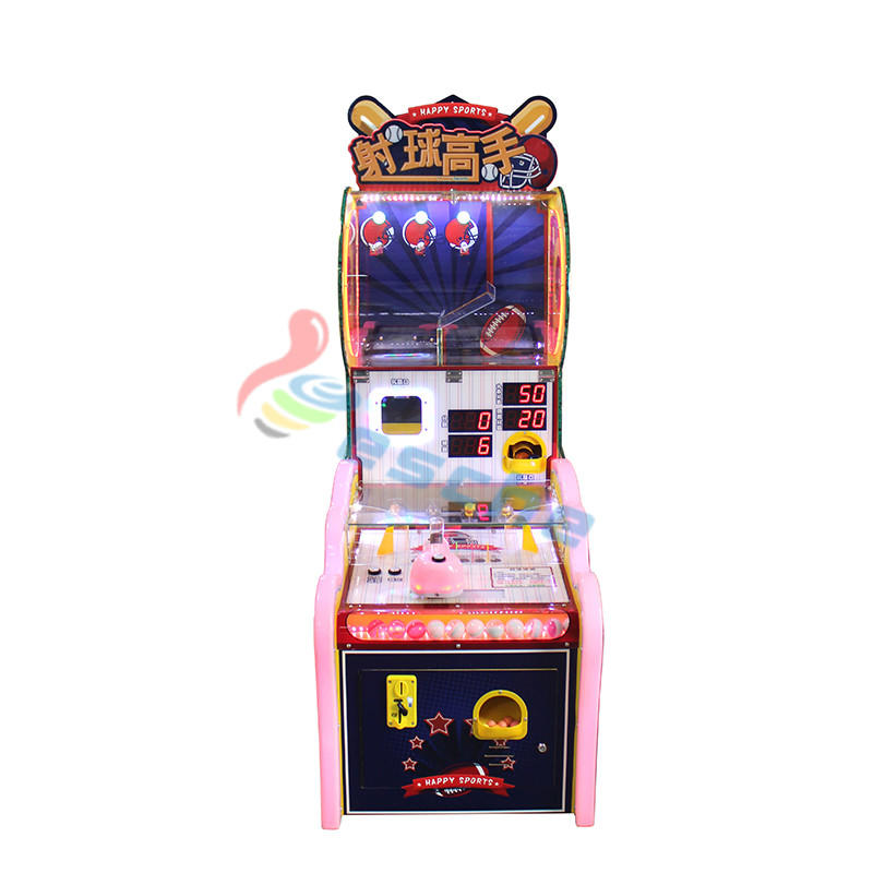 arcade coin operated ball shooting redemption game machine