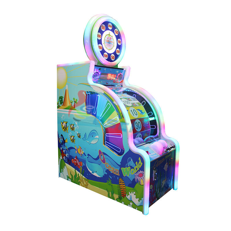 Ocean world coin operated arcade lottery redemption game machine