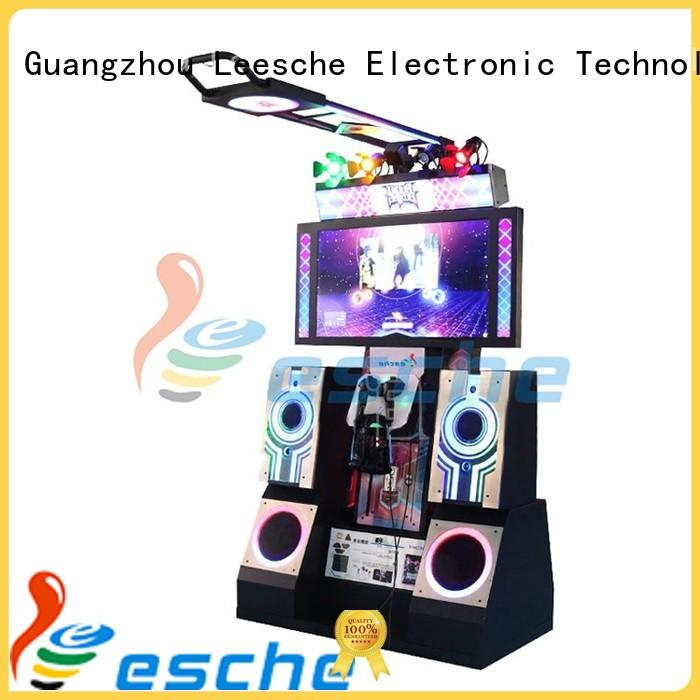 Leesche motion dance dance revolution arcade game with the dynamic platform motions in the park