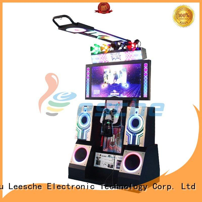 Leesche dance arcade dance machine with special effect and vr glasses on the street