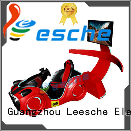 Leesche design racing simulation with unique freedom electric motion-based dynamic platform on the street