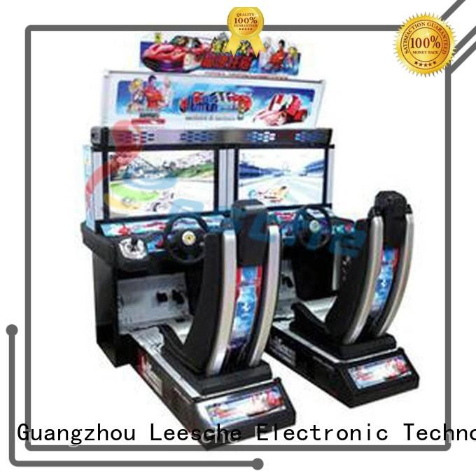 Leesche machine used arcade game machines to let the wheel rotating in the park