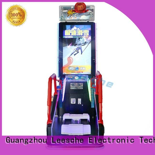 Leesche durable arcade video game machines easy operated in the park