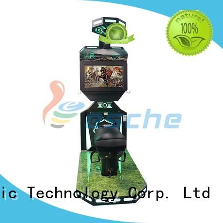 Quality Leesche Brand horse riding simulator for sale shooting