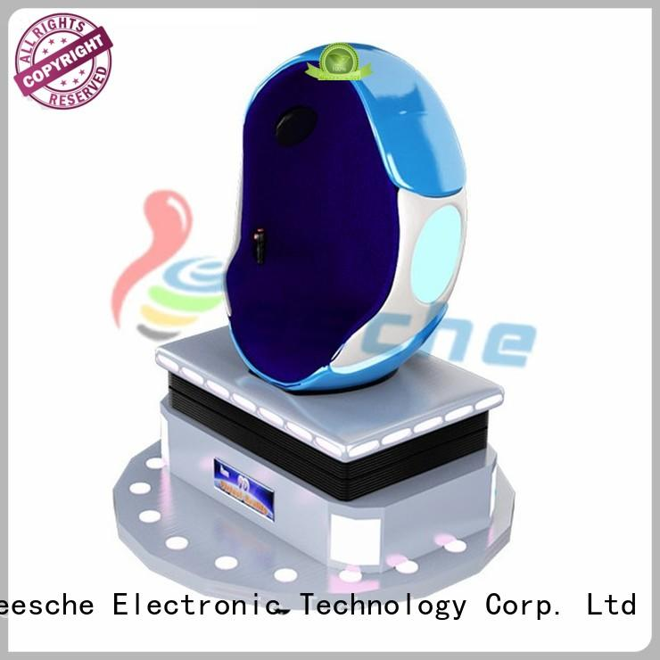 Leesche 360°panoramic 9d egg chair making you laugh and scream on the street
