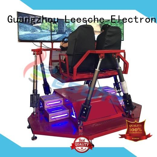 high quality racing simulator cockpit motion with unique freedom electric motion-based dynamic platform on the street