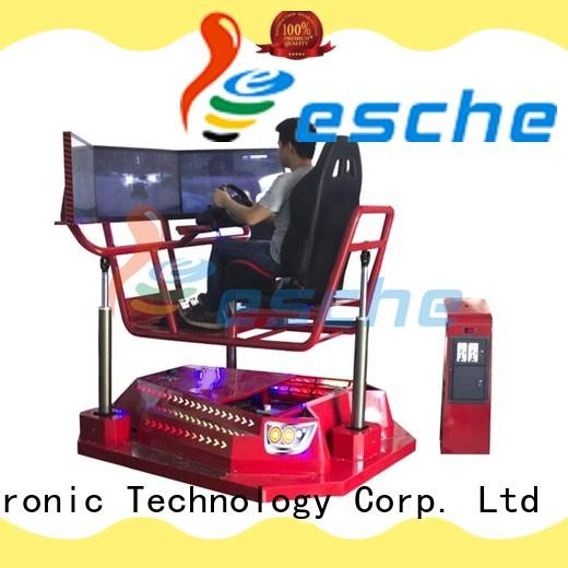 full motion racing simulator platform in the park Leesche