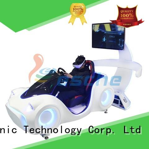 Leesche high quality professional racing simulator with unique freedom electric motion-based dynamic platform in Shopping mall