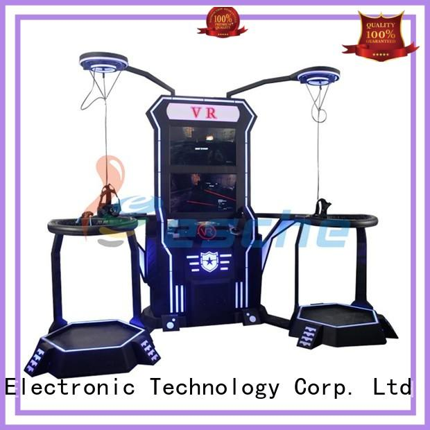 Leesche virtual fighting game machine with special effect and vr glasses in the park